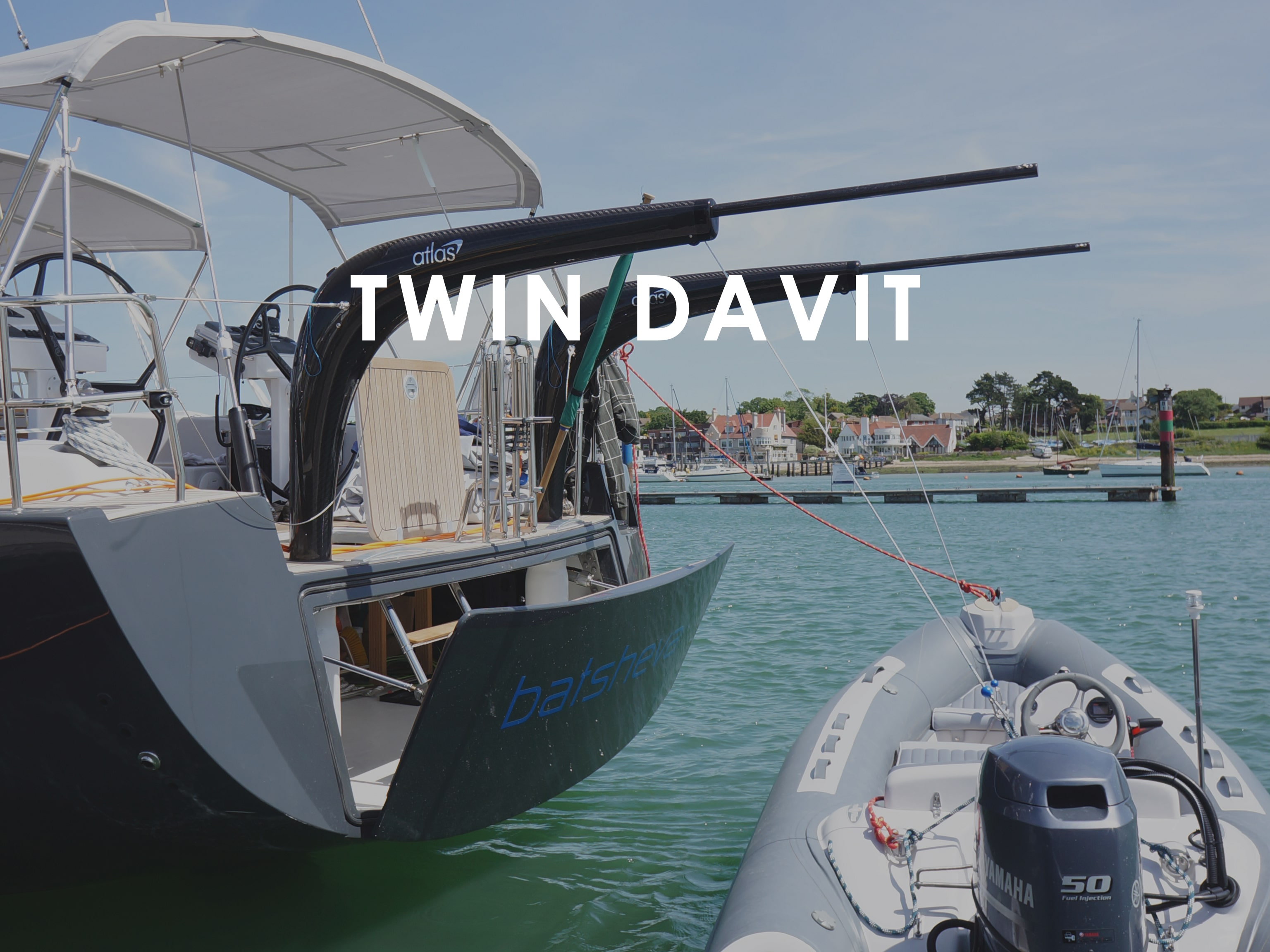 Twin Davits for sailboats and yachts